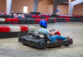 Indoor karting — Foto Stock