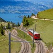 Swiss alpine railway — Stock Photo