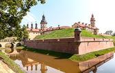 Medieval castle in Nesvizh — Stock Photo