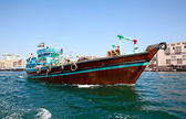 Traditional dhow ferry boats — Stock Photo