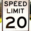 Speed Limit 20 — Stock Photo #12783266