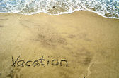 Vacation In the Sand — Stock Photo