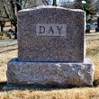 Cemetary Headstone Day — Stock Photo