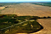 Aerial view of farmlands — Stock Photo