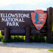 Yellowstone National Park View — Stock Photo