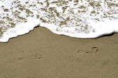 Footsteps In The Sand — Stock Photo