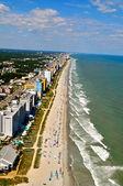 Aerial View of Myrtle Beach Coastline-1 — Stock Photo