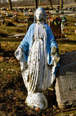 Grave Marker Mother Mary — Stock Photo