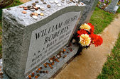 Billy The Kid Cowboy grave marker perspective — Stock Photo