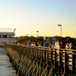 Stock Photo: Myrtle Beach - fishing on 2nd ave pier