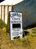Cowboy church service — Stock Photo
