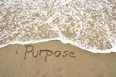 Purpose in the sand — Stockfoto
