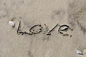 Amor en la arena — Foto de Stock