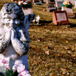 Gravesite - Angel - background — Stock Photo