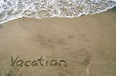 Vacation in the Sand-1 — Foto Stock