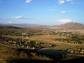 Fort Irwin Army Base - with mountain background — Stockfoto