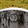 Cemetery Headstone with cross — Stock Photo #14400345