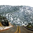 Stock Photo: Road into mountainside