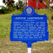Sign Jupiter Lighthouse — Stock Photo