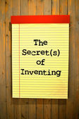 Sign the secrets of inventing — Stock Photo