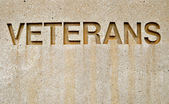 Sign veterans — Stock Photo