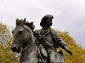 Homme statue waco sur cheval — Photo
