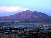 Fort Irwin Army Base - with mountain background — Stock Photo