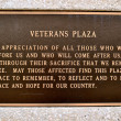 Stock Photo: Sign Veterans PlazWaco