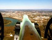 Tiro de canhão sobre o parque de ponto — Fotografia Stock