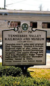 Tennessee Valley Railroad Sign 2 — Stock Photo