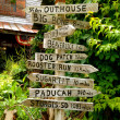 Stock Photo: Rabbit Hash Directional Sign