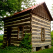 Rabbit Hash Log Cabin — Stock Photo