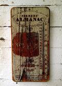 Farmers Almanac Sign - Rabbit Hash — Stock Photo