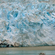 Glacier and Boat Portrait — Foto de Stock