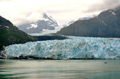 Glacier and Boat background — Photo