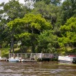 Boats along Waccamaw — Stock Photo