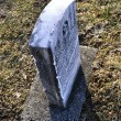 Stock Photo: Headstone Side View