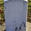 Marble headstone — Stock Photo