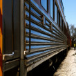 Stock Photo: Railroad Car Perspective