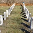 Stock Photo: Two headstone lines