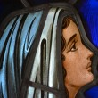 Stock Photo: Mother Mary in Stained Glass 3