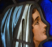 Mother Mary in Stained Glass 3 — Стоковое фото
