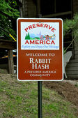 Rabbit Hash Sign — Stock Photo
