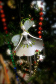Silver Angel Ornament — Stock Photo