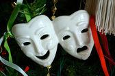 Tiyatro maskesi süsleme — Stok fotoğraf