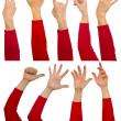 Royalty-Free Stock Photo: Hands set
