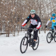 Stock Photo: Cycling in winter