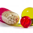 Stock Photo: Vitamin supplement capsules