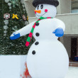 Snowman and tree — Foto de Stock