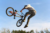 Bicycle MotoCross Action, sport BMX cycling — Stock Photo